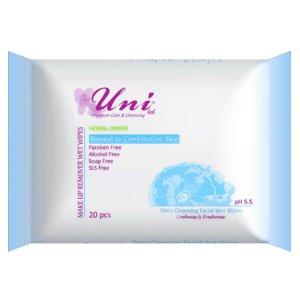 دستمال مرطوب پاک کننده آرایش ویژه پوست معمولی تا ترکیبی